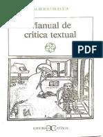 Manual de crítica textual. Alberto Blecua