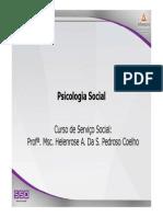 SSOC3 Psicologia Social Aula1e2 Apresentacao