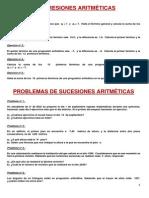 Ejercicios de Progresiones Aritmeticas y Geometricas