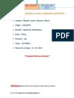Informe de Fisica I (Materia) - UNMSM