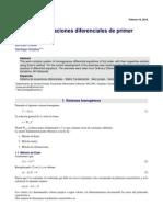 Sitemas de ecuaciones diferenciales Ejercicios resueltos