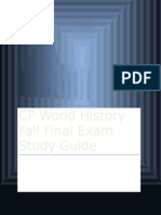 CP World History Fall Final Exam Study Guide