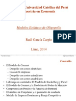 1. Modelos Estáticos de Oligopolio - Rgc