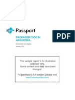 Sample Report Packaged Food