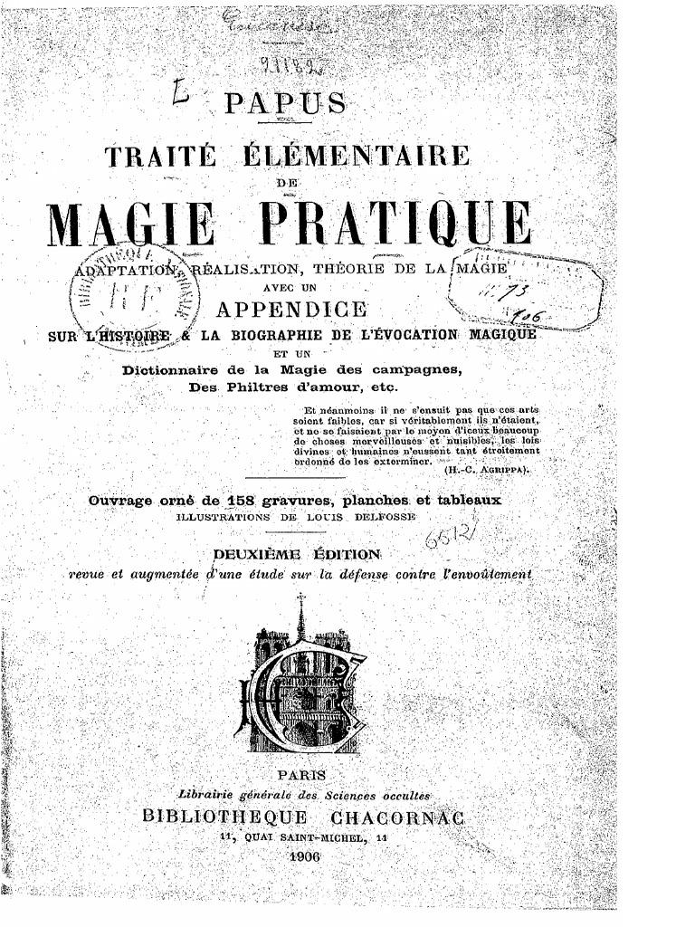 Papus Traite Elementaire de Magie Pratique 12
