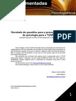Psicologia Nova Simulado TJ SP 2012 Comentado