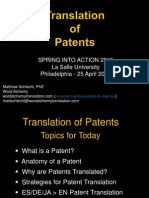 Translation of Patents, Spring Into Action DVTA Conference 2015