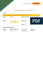DHL sample bill copy