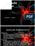 Aptitude Test Presentation
