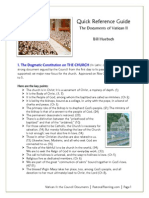 Summary of Vatican II Documents