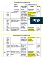 fitness unit plan