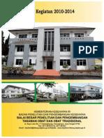 Rencana Aksi Kegiatan B2P2TOOT 2010-2014
