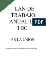Plan de Trabajo Anual de Tbc