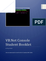 CS 9608 VB Console Student Booklet
