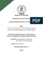 """Creación de Una Página Web y Sistema de Matriculación Del Colegio """"Gorky Elizalde Medranda de La Ciudad de Milagro"""