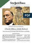 A Family's Billions Artfully Sheltered (November 2011)