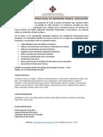II Conferencia Internacional en Ingenieria Sismica Descripción