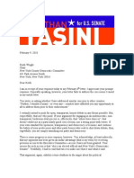 2nd Tasini Letter to Wright