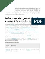 Control status Información general del control StatusStrip