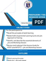 Session Guide Preparation