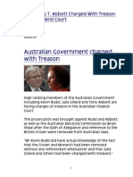 K Krudd & T. Abbott Charged With Treason in Federal Court