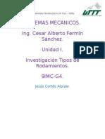 9IMC-G4-Investigacion Tipos de Rodamientos-Jesus Cortes Alpizar