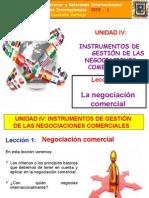 Unidad IV Leccion 1 La Negociacion Comercial (1)