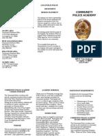 Civilian Police Academy Brochure English