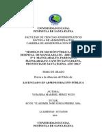 MODELO DE GESTIÓN PUBLICA