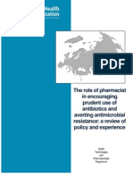The Role of Pharmacist in Encouraging Prudent Use of Antibiotics and Averting Antimicrobial Resistance a Review of Policy and Experience Eng