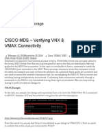 CISCO MDS – Verifying VNX & VMAX Connectivity