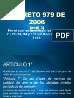 Decreto 979 de 2006 Exposición