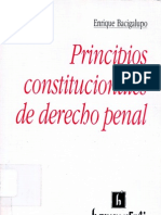 Principios Constitucionales de Derecho Penal