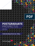 Edinburgh Napier University Postgraduate Prospectus