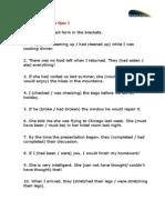 Past Tense Review Quiz 1
