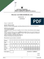 Matematike Pedagogjike Varianti A