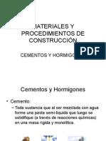 Cemento y Hormigones