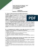 UNIDADE v - Processo de Auditoria Exercício