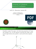 11 Cylindrical and Spherical Coordinates - Handout