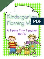 Kindergarten Morning Work Freebie