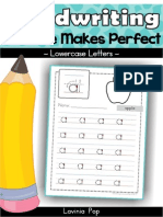 Handwriting Free Practice Makes Perfect Lowercase Letters