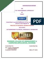 Dissertation Report on Performance Appraisal - Bhel