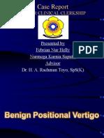 Presentation Case Report Vertigo - Present