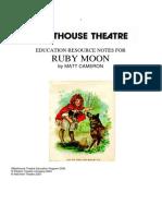 drama essay sample ruby moon background notes 1
