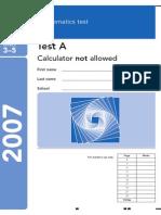 2007 Maths A