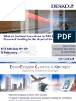 What are the latest innovations for PAX & Document Handling for the airport of the future?