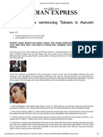 26 Reasons for Sentencing Talwars in Aarushi Case