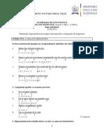 Sectiunea de Exercitiu 22 Nov. 2014 SUBIECT