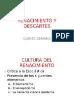5,. Renacimiento y Descartes