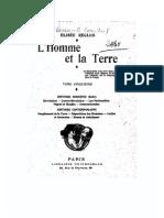 Élisée Réclus - Répartition Des Hommes [L'Homme Et La Terre, Tome 5]